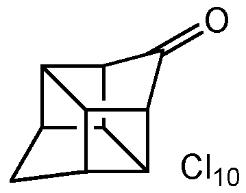 Chemical Structure for Chlordecone