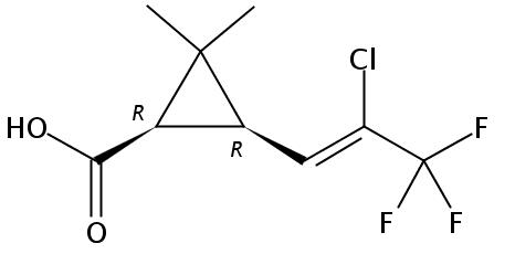 Chemical Structure for lambda-Cyhalothric acid
