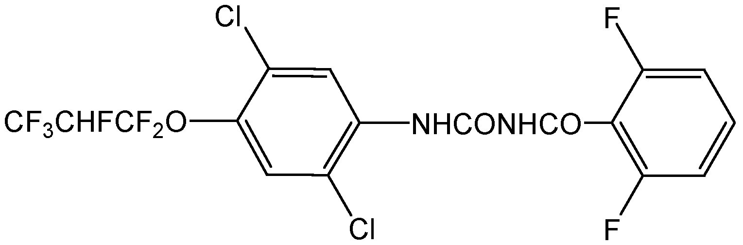 Chemical Structure for Lufenuron