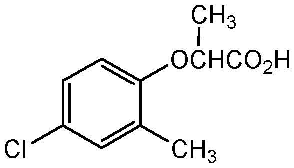Chemical Structure for Mecoprop
