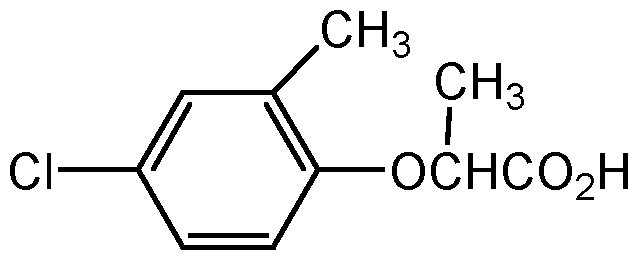 Chemical Structure for Mecoprop-P