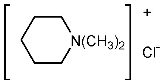 Chemical Structure for Mepiquat chloride