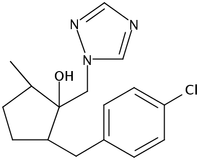 Chemical Structure for Metconazole