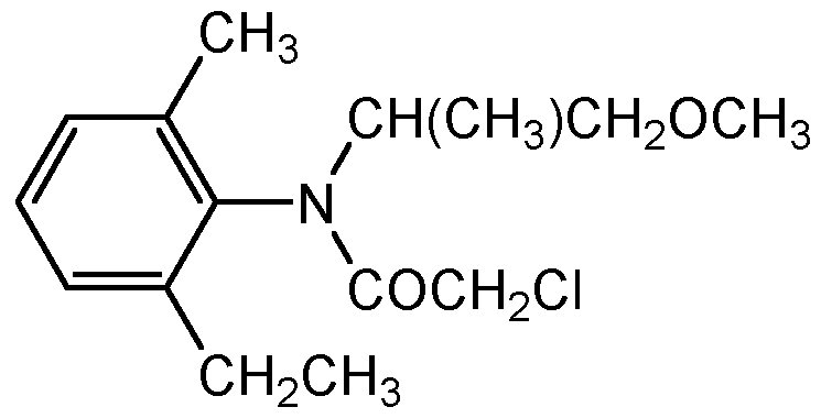 Chemical Structure for Metolachlor