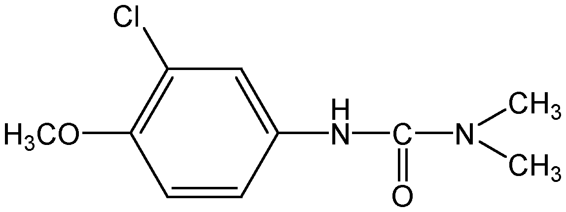 Chemical Structure for Metoxuron