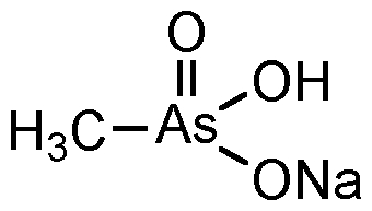 Chemical Structure for Monosodium acid methane arsonate sesquihydrate