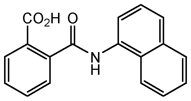 Chemical Structure for N-1-Naphthylphthalamic acid