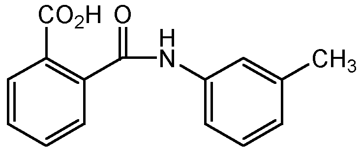 Chemical Structure for N-m-Tolylphthalamic acid