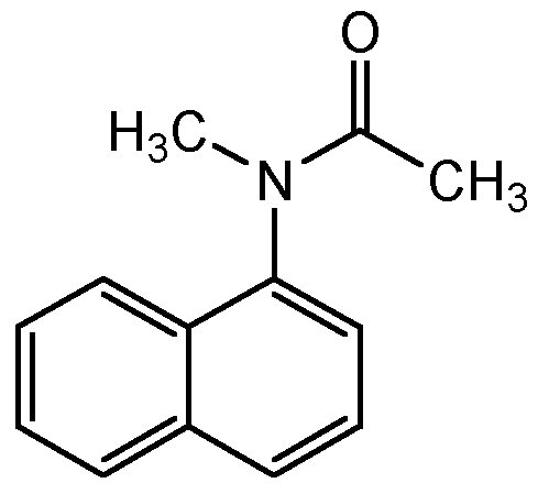 Chemical Structure for N-Methyl-N-1-naphthyl acetamide