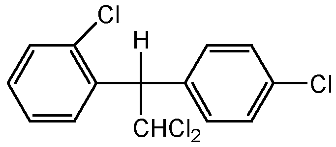 Chemical Structure for o,p'-DDD