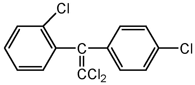 Chemical Structure for o,p'-DDE