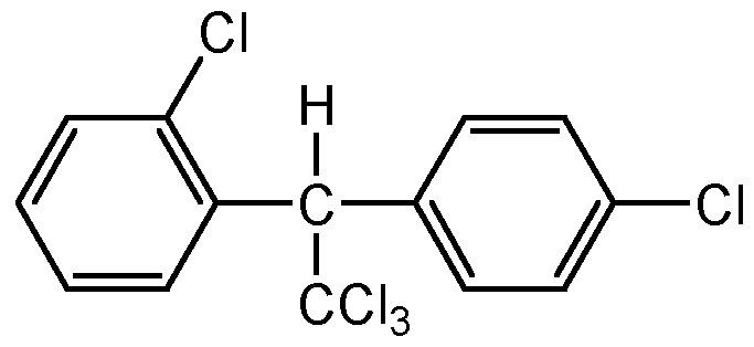 Chemical Structure for o,p'-DDT