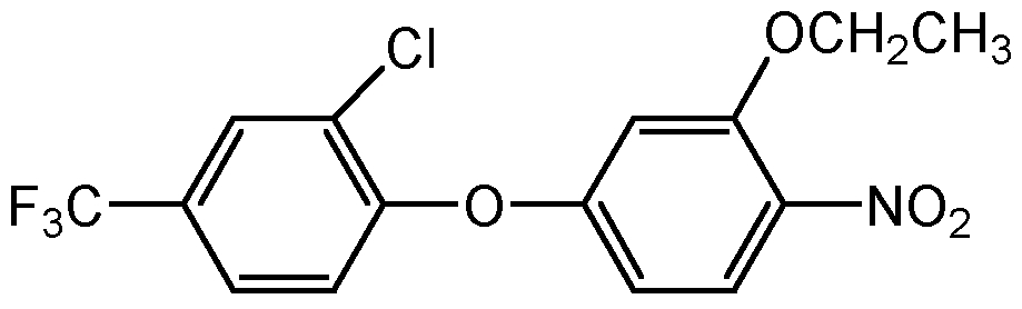 Chemical Structure for Oxyfluorfen