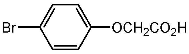 Chemical Structure for p-Bromophenoxy acetic acid