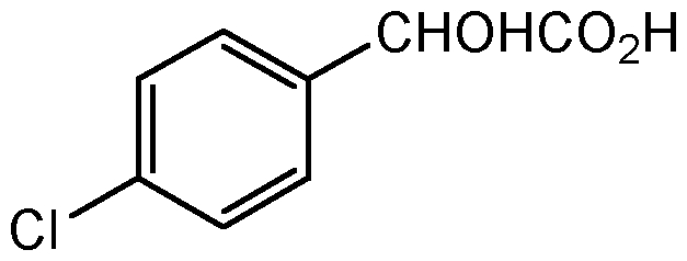Chemical Structure for p-Chloromandelic acid