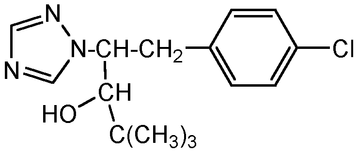 Chemical Structure for Paclobutrazol