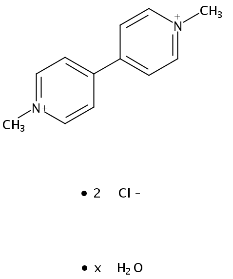 Chemical Structure for Paraquat dichloride hydrate
