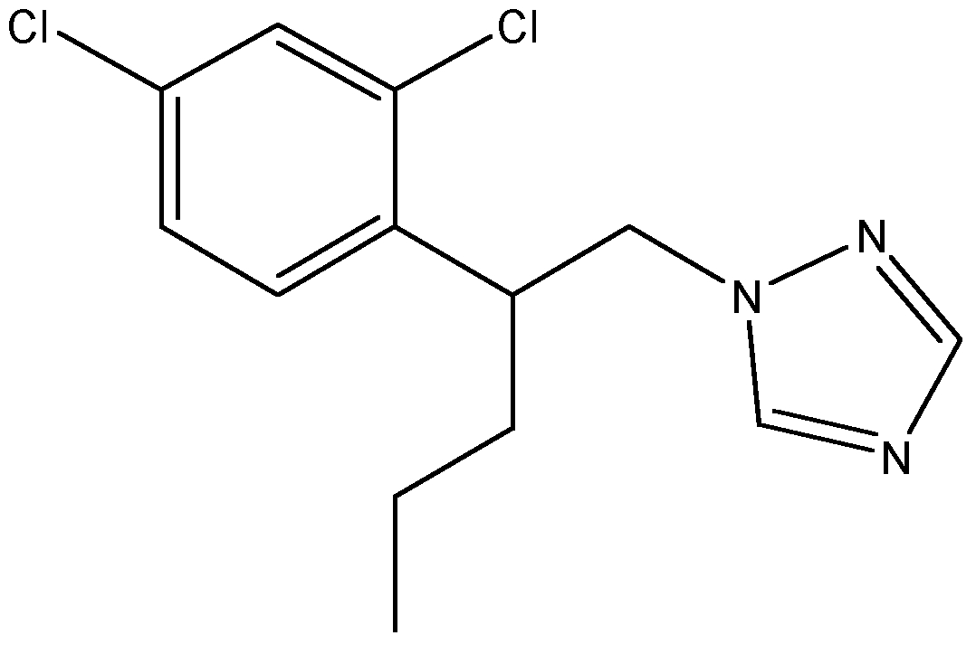 Chemical Structure for Penconazole