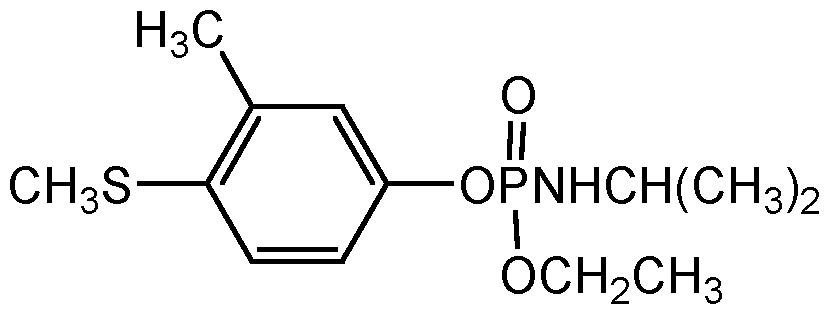 Chemical Structure for Fenamiphos