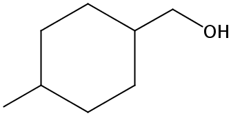 Chemical Structure for 4-Methylcyclohexanemethanol