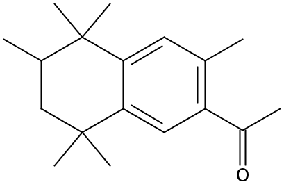Chemical Structure for 6-Acetyl-1,1,2,4,4,7-hexamethyltetralin