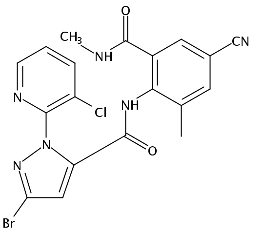 Chemical Structure for Cyantraniliprole
