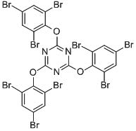 Chemical Structure for 2,4,6-Tris-(2,4,6-tribromophenoxy)-1,3,5-triazine