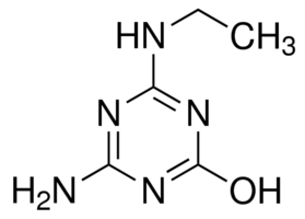 Chemical Structure for Atrazine-desisopropyl-2-hydroxy