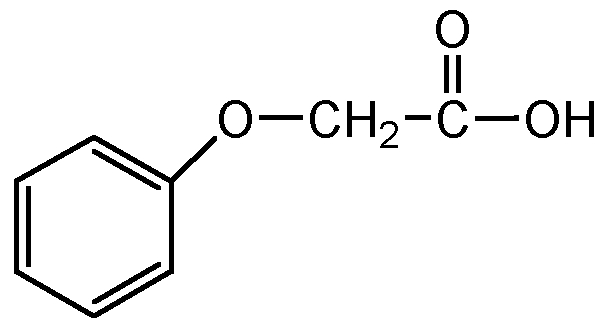 Chemical Structure for Phenoxyacetic acid
