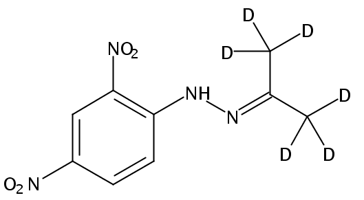 Chemical Structure for Acetone-d6 (DNPH Derivative)