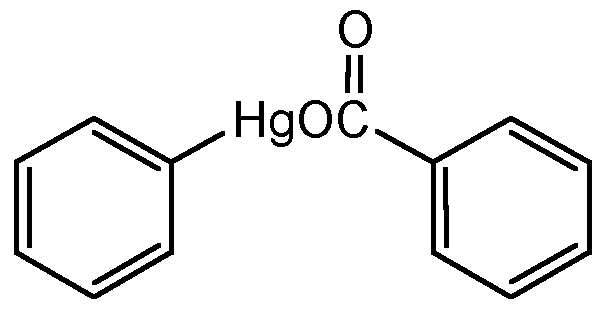 Chemical Structure for Phenyl mercuric benzoate