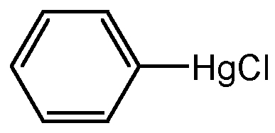 Chemical Structure for Phenyl mercuric chloride(Technical)