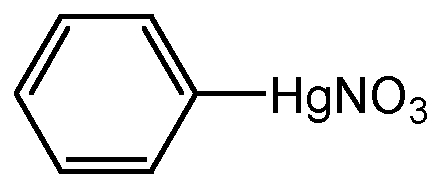Chemical Structure for Phenylmercury nitrate(Technical)