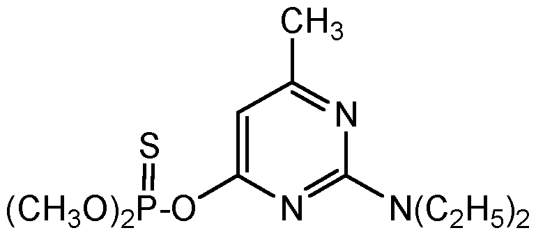 Chemical Structure for Pirimiphos-methyl