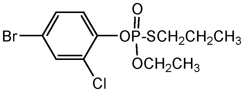 Chemical Structure for Profenofos