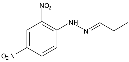 Chemical Structure for Propionaldehyde (DNPH Derivative)