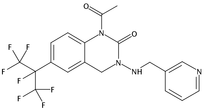 Chemical Structure for Pyrifluquinazon