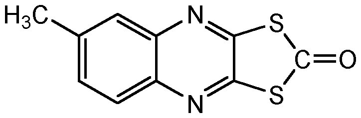 Chemical Structure for Quinomethionate