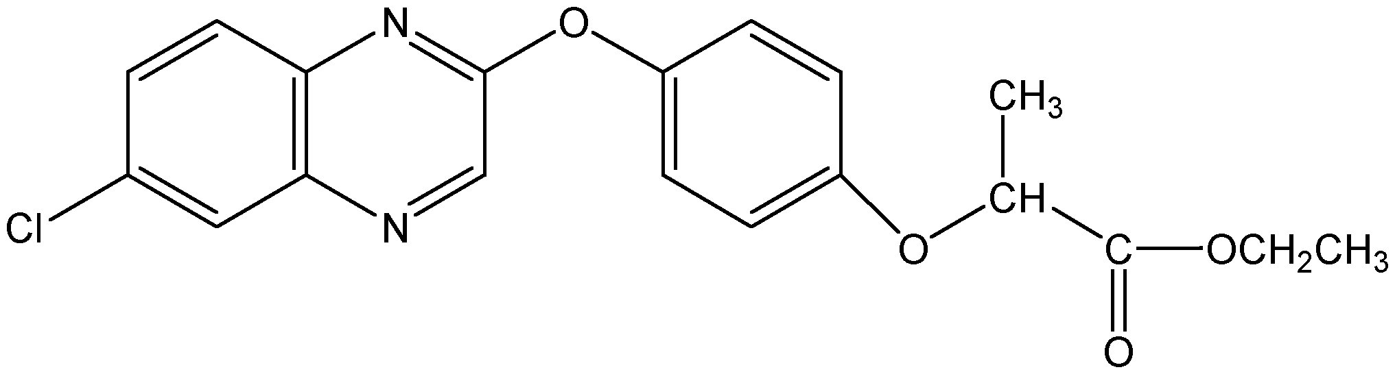 Chemical Structure for Quizalofop-P-ethyl