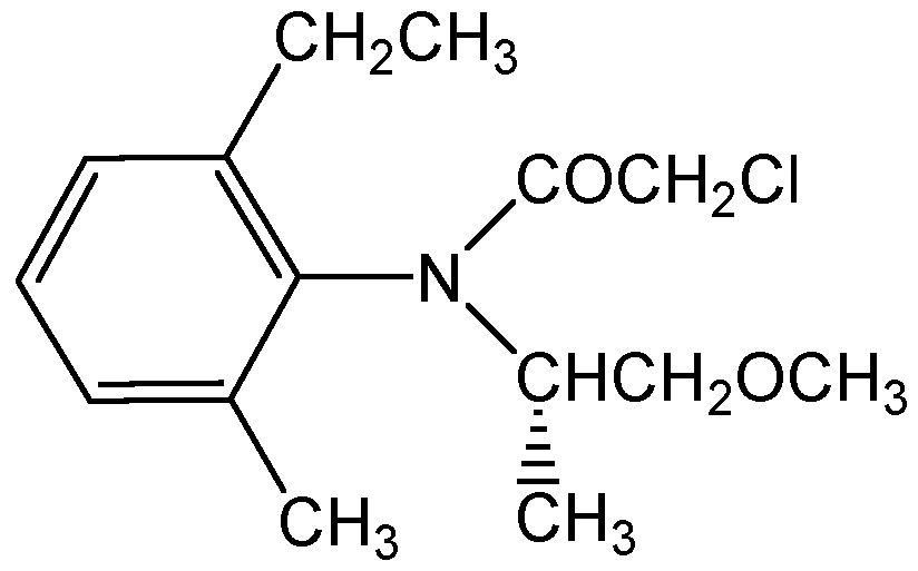 Chemical Structure for S-Metolachlor