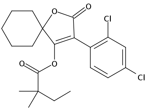 Chemical Structure for Spirodiclofen