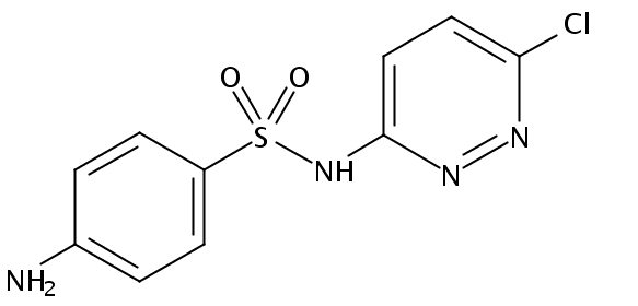 Chemical Structure for Sulfachloropyridazine