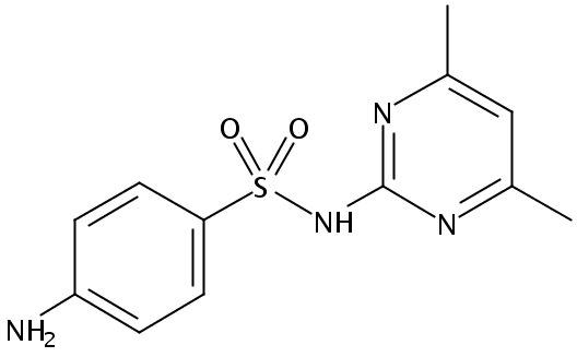 Chemical Structure for Sulfamethazine