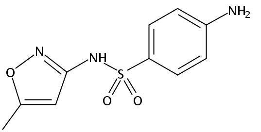 Chemical Structure for Sulfamethoxazole
