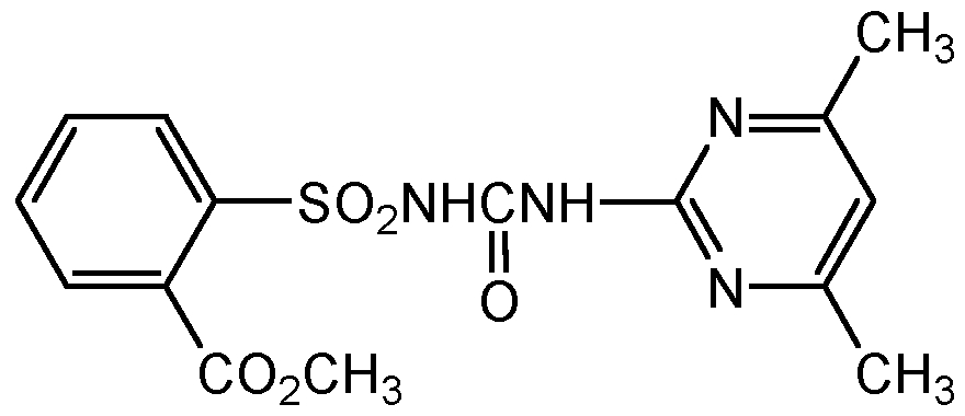 Chemical Structure for Sulfometuron methyl