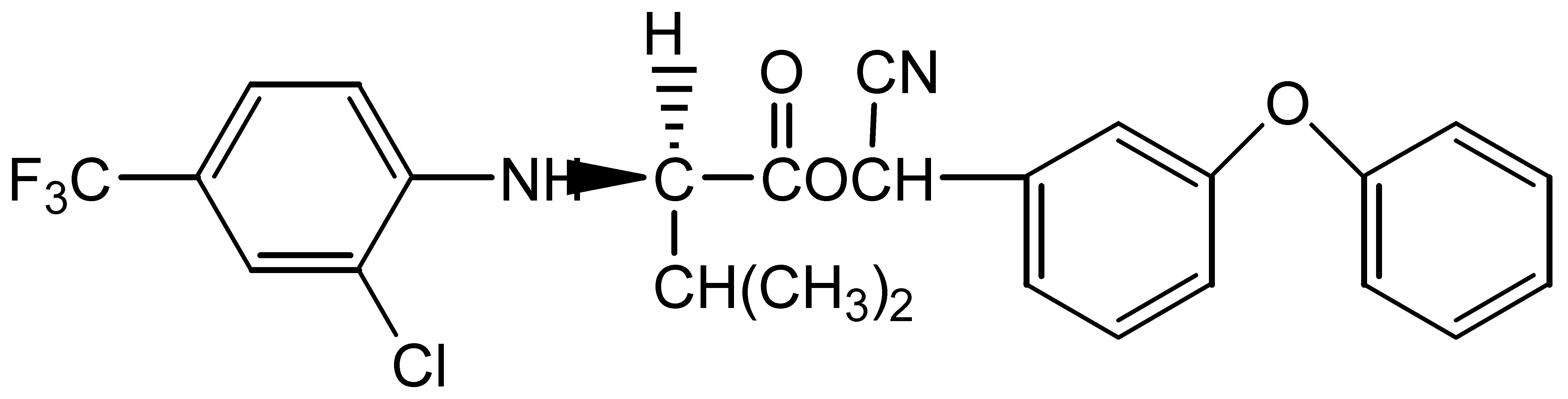 Chemical Structure for tau-Fluvalinate