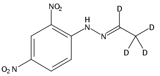 Chemical Structure for Acetaldehyde-d4 (DNPH Derivative)