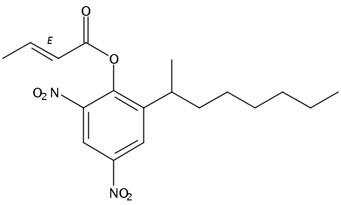 Chemical Structure for Meptyldinocap