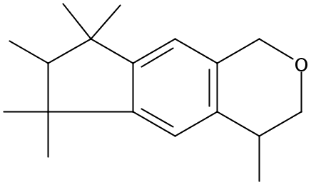 Chemical Structure for Hexahydromethyl cyclopentabenzopyran (~50%diethyl phthalate)