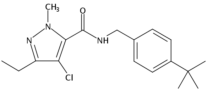 Chemical Structure for Tebufenpyrad